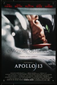5y0027 APOLLO 13 signed mini poster 1995 by director Ron Howard, c/u of NASA astronaut Tom Hanks!