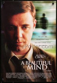 5y0028 BEAUTIFUL MIND signed mini poster 2001 by director Ron Howard, great image of Russell Crowe!
