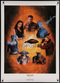 5y0016 VIRGINIA HEY signed 27x38 art print 2000 cool Farscape cast montage art by Keith Paul!