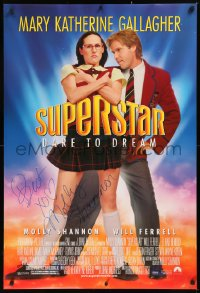 5y0012 SUPERSTAR signed DS 1sh 1999 by Molly Shannon, as Mary Katherine Gallagher with Will Ferrell!
