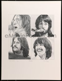 6f0010 BEATLES signed #1/1000 18x24 art print 1993 by Stewart A. Carr, Let It Be cover, Yesterday!