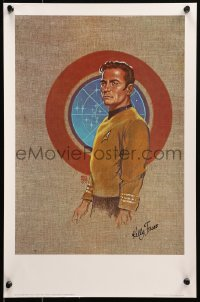 6f0033 KELLY FREAS signed 13x19 art print 1970s by the artist, Star Trek art of Cpt. James T. Kirk!