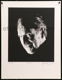 6f0029 VINCENT PRICE printer's proof signed #1/5 17x22 art print 1990s by artist, smiling close-up!