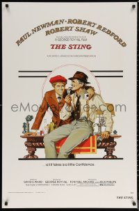 6f0009 STING S2 poster 2002 George Roy Hill, great artwork of con men Paul Newman & Robert Redford!