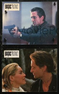 6h0029 BASIC INSTINCT 12 French LCs 1992 Paul Verhoeven, Michael Douglas & sexy Sharon Stone!