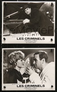 6h0026 CRIMINAL 15 French LCs R1960s directed by Joseph Losey, tough crook Stanley Baker, different!