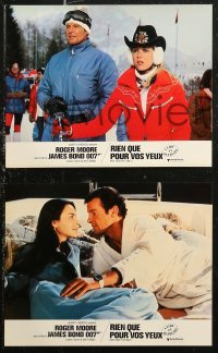 6h0022 FOR YOUR EYES ONLY 18 French LCs 1981 Roger Moore as James Bond, some different images!