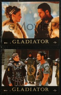 6h0035 GLADIATOR 12 French LCs 2000 Russell Crowe, Phoenix, Nielson, Reed, Hounsou, Ridley Scott!