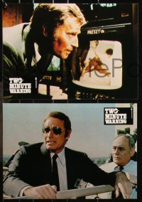 6h0021 TWO MINUTE WARNING 20 French LCs 1977 Charlton Heston, John Cassavetes, sniper at football game!