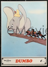 6h0006 DUMBO 12 Spanish LCs R1980s colorful art from Walt Disney circus elephant classic!