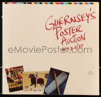 6p0095 GUERNSEY'S 04/07/89 auction catalog 1989 3,500 graphic images, exceptional poster weekend!