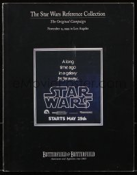 6p0094 BUTTERFIELD & BUTTERFIELD THE STAR WARS REFERENCE COLLECTION 11/15/99 auction catalog 1999