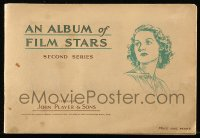 6p0090 ALBUM OF FILM STARS second series English cigarette card album 1934 w/50 cards on 20 pages!
