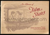 6p0091 ALBUM OF FILM STARS 3rd series English cigarette card album 1938 w/50 color cards on 20 pages!