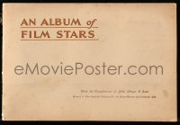 6p0089 ALBUM OF FILM STARS 1st series English cigarette card album 1933 w/50 color cards on 20 pages!