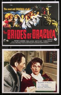 6p0116 BRIDES OF DRACULA 9 REPRO color English FOH LCs 2000s Hammer, Peter Cushing as Van Helsing!