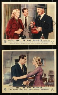 6p0104 DIAL M FOR MURDER 8 REPRO color English FOH LCs 2000s Hitchcock, Milland, Grace Kelly, Cummings
