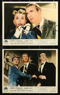6p0108 MAN WHO KNEW TOO MUCH 8 REPRO color English FOH LCs 2000s James Stewart, Doris Day, Hitchcock!