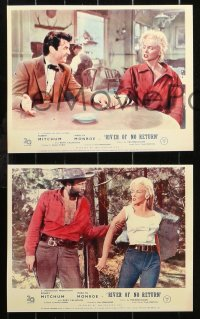 6p0111 RIVER OF NO RETURN 8 REPRO color English FOH LCs 2000s sexy Marilyn Monroe, Robert Mitchum!