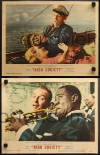 6r1041 HIGH SOCIETY 4 LCs 1958 Sinatra, Bing Crosby, Grace Kelly & Louis Armstrong playing trumpet!