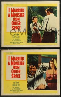 6r1042 I MARRIED A MONSTER FROM OUTER SPACE 4 LCs 1958 Gloria Talbott, Tom Tryon, sci-fi horror!!