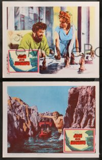 6r1043 JASON & THE ARGONAUTS 4 LCs 1963 Armstrong, great special effects scenes by Ray Harryhausen!