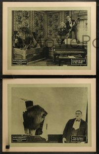 6r1046 LION & THE SOUSE 4 LCs 1924 Mack Sennett, Pathe, lion wreaks havoc at dinner party, very rare!