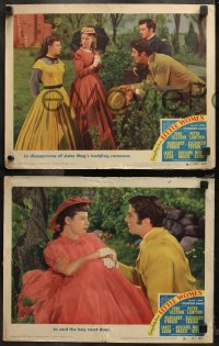 6r1047 LITTLE WOMEN 4 LCs 1949 images of Peter Lawford & pretty June Allyson, Leigh, O'Brien!