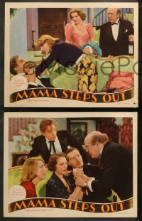 6r1052 MAMA STEPS OUT 4 LCs 1937 Anita Loos' hilarious successor to Gentlemen Prefer Blondes!