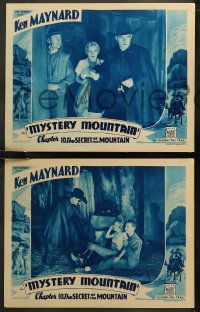 6r1056 MYSTERY MOUNTAIN 4 chapter 10 LCs 1934 western cowboy Ken Maynard, The Secret of the Mountain!