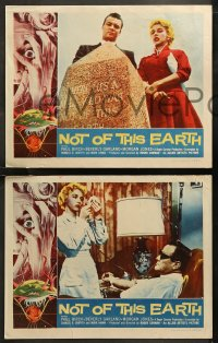 6r1059 NOT OF THIS EARTH 4 LCs 1957 Beverly Garland, Paul Birch, great images from Corman sci-fi!