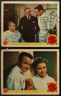 6r1062 PEOPLE VS. DR. KILDARE 4 LCs 1941 Lew Ayres, Laraine Day, Barrymore, My Life is Yours!