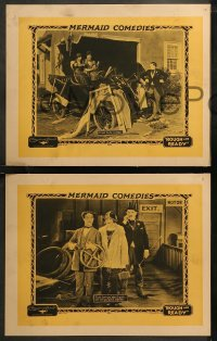 6r1065 ROUGH & READY 4 LCs 1925 directed by Norman Taurog, great images of wacky Lige Conley, rare!