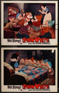 6r1069 SNOW WHITE & THE SEVEN DWARFS 4 LCs R1967 Walt Disney animated cartoon fantasy classic!
