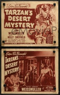6r1075 TARZAN'S DESERT MYSTERY 4 LCs R1949 Johnny Weissmuller, Johnny Sheffield & Cheetah!