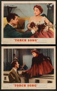 6r1079 TORCH SONG 4 LCs 1953 Gig Young, tough baby Joan Crawford, a wonderful love story!