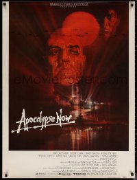 6s0016 APOCALYPSE NOW 30x40 1979 Francis Ford Coppola, classic Bob Peak art of Brando and Sheen!