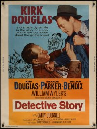 6s0017 DETECTIVE STORY 30x40 R1960 William Wyler, Kirk Douglas knew too much about Eleanor Parker!
