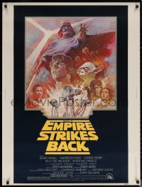 6s0018 EMPIRE STRIKES BACK 30x40 R1981 George Lucas sci-fi classic, cool artwork by Tom Jung!