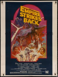 6s0019 EMPIRE STRIKES BACK 30x40 R1982 George Lucas sci-fi classic, cool artwork by Tom Jung!