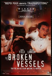 6s0963 BROKEN VESSELS 1sh 1999 Todd Field, Jason London, they're an accident waiting to happen!
