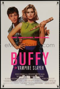 6s0964 BUFFY THE VAMPIRE SLAYER 1sh 1992 great image of Kristy Swanson & Luke Perry!