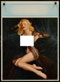 6s0027 CALENDAR SAMPLE calendar 1940s Touch of Venus, sexy art of blonde in skimpy lingerie!