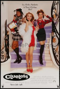 6s0973 CLUELESS advance DS 1sh 1995 Amy Heckerling, sexy Alicia Silverstone, Brittany Murphy!