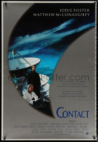 6s0976 CONTACT printer's test int'l 1sh 1997 Robert Zemeckis, Jodie Foster & Matthew McConaughey