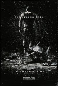 6s0988 DARK KNIGHT RISES teaser DS 1sh 2012 Tom Hardy as Bane, cool image of broken mask in the rain!