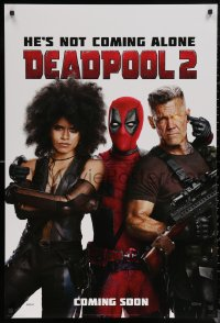 6s0993 DEADPOOL 2 style G int'l teaser DS 1sh 2018 Reynolds with Brolin and Zazie Beetz as Domino!