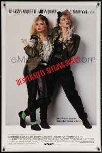 6s0995 DESPERATELY SEEKING SUSAN 1sh 1985 bad Madonna & Rosanna Arquette, mistaken for each other!