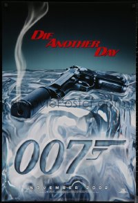 6s0999 DIE ANOTHER DAY teaser 1sh 2002 Pierce Brosnan as James Bond, cool image of gun melting ice!