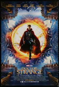 6s1002 DOCTOR STRANGE advance DS 1sh 2016 sci-fi image of Benedict Cumberbatch in the title role!